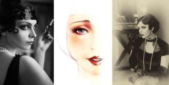 3 Femmes Maquillée Comme Dans Les Annees 20