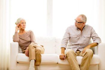 Senior Séparation Couple Divorce