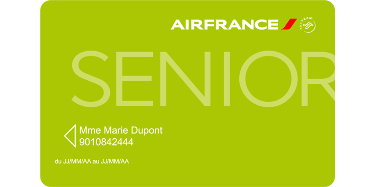Carte Redcution Senior Air France