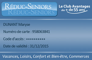 Carte Reduc Senior