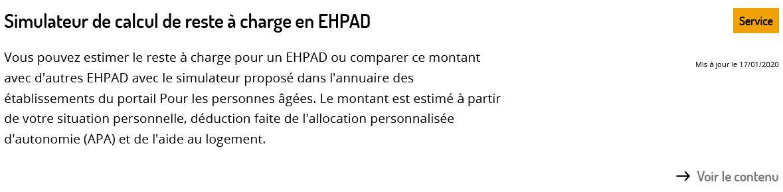 Simulateur Capture Ecran Pour Les Personnes Agees.gouv.fr