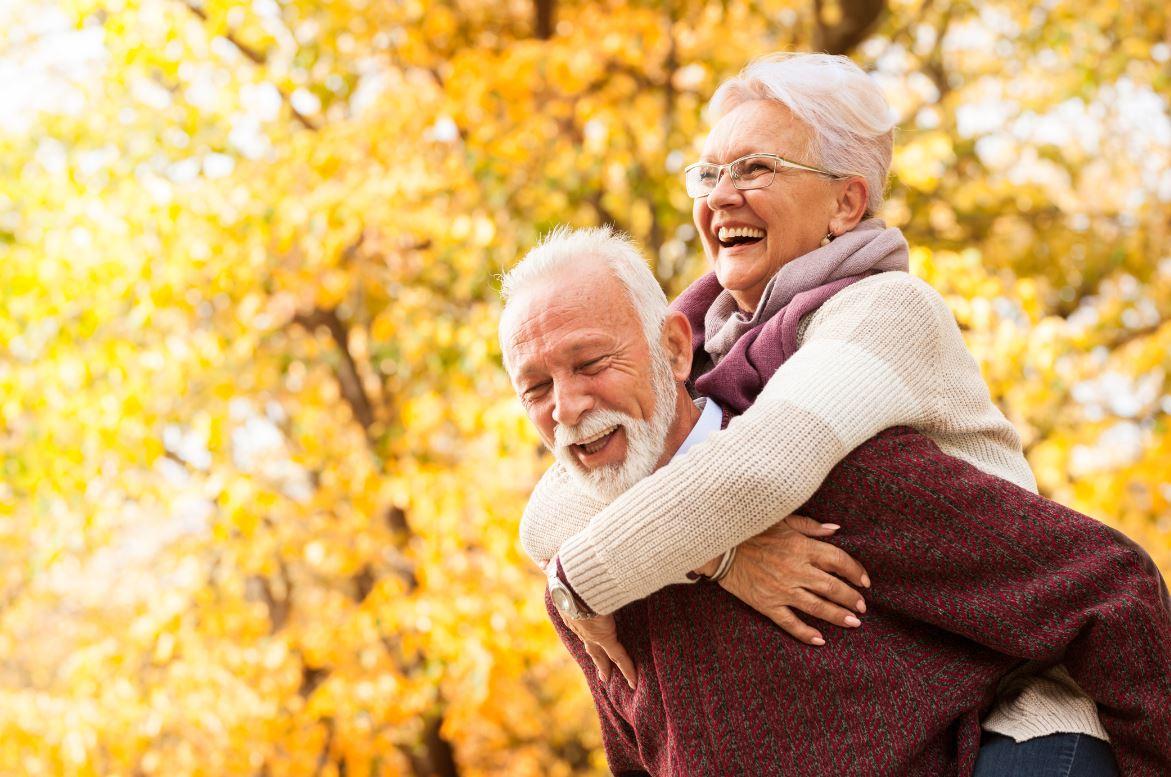 Couple Senior Heureux Sens Vie