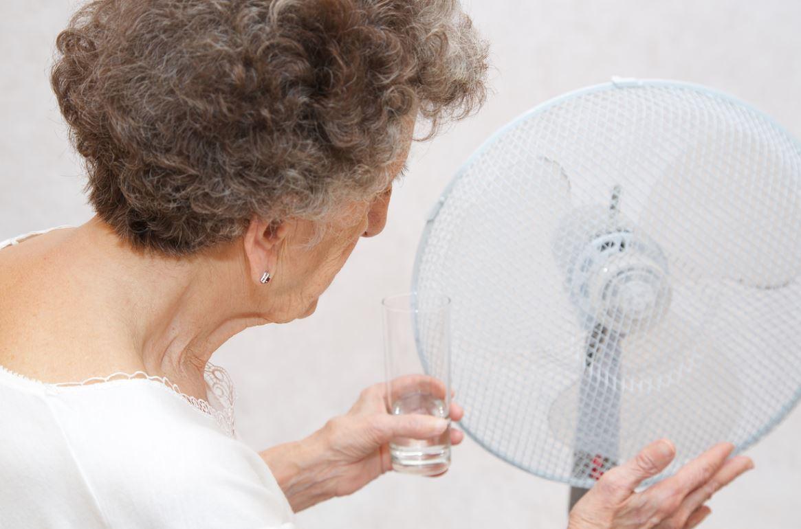 Canicule Femme Senior Ventilateur
