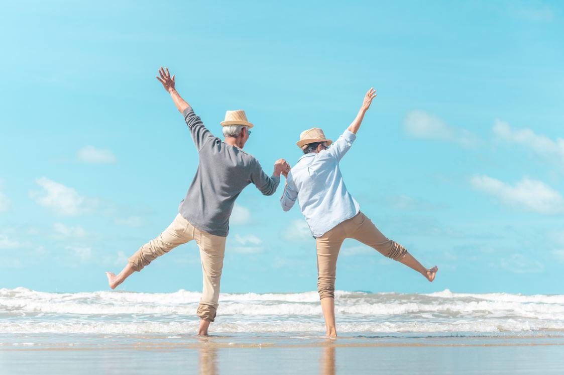 Couple Senior Heureux Vacances