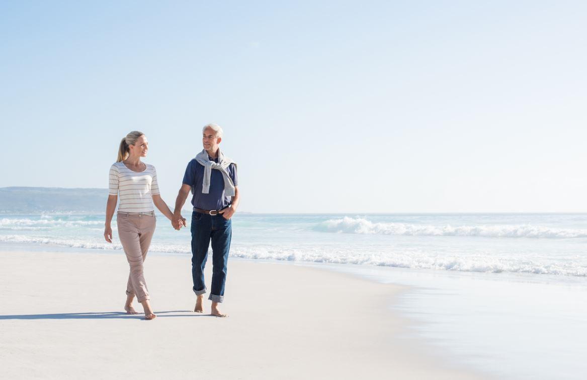 Couple Senior Vacances Plage