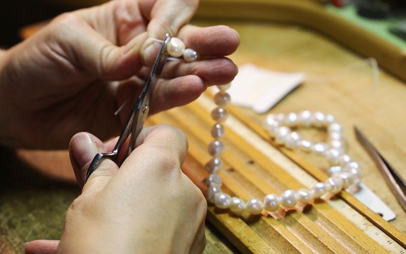 Renfiler Collier Perle