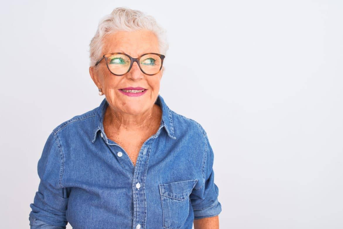 Femme Senior Chemise En Jean